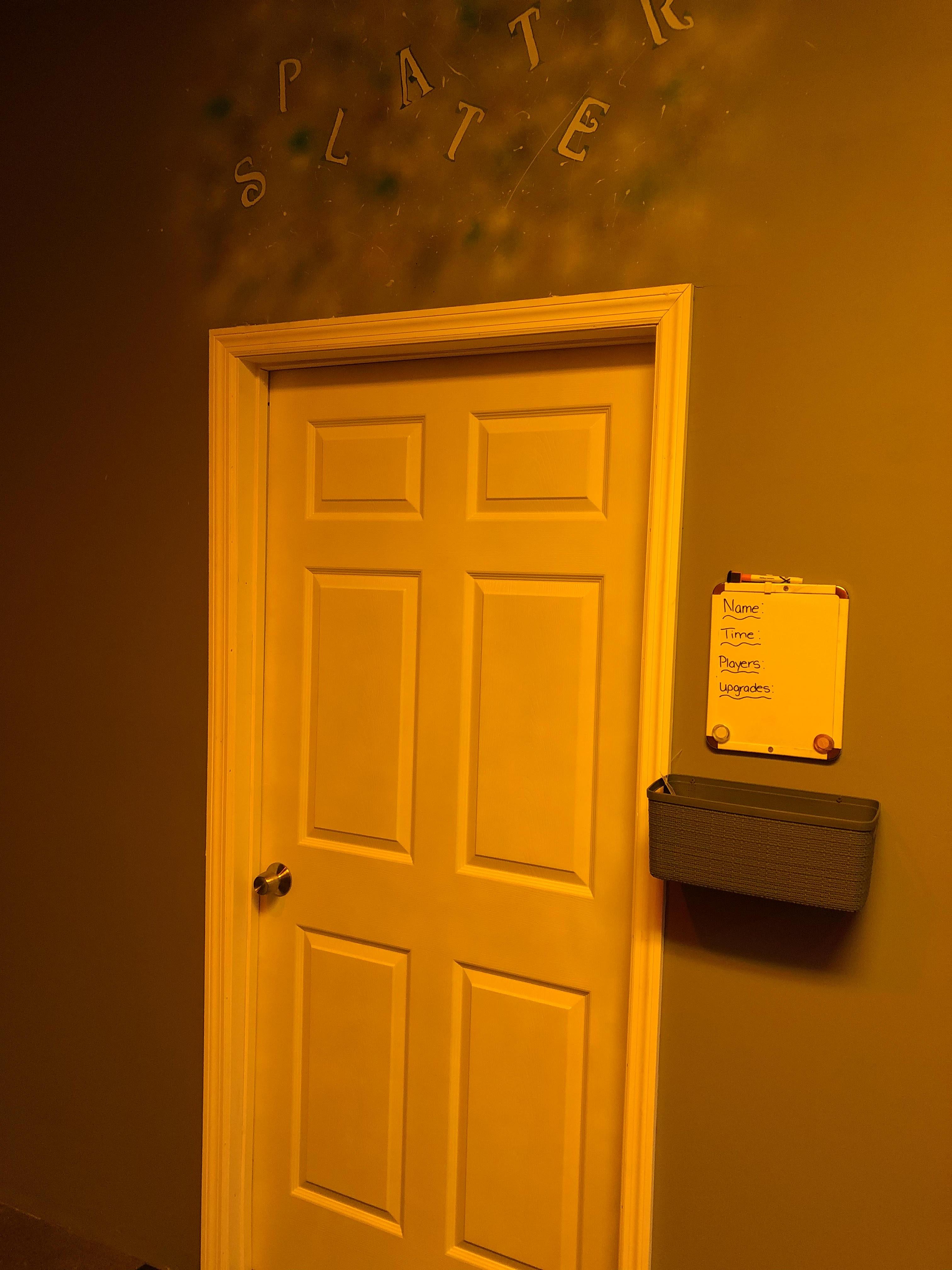 Splatter room photo
